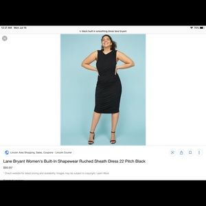 LANE BRYANT built in shapewear dress SIZE 12 - LBD